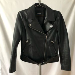 Madewell Leather Motorcycle Jacket, size Medium